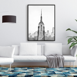 Framed 36 x 48 - Empire state building