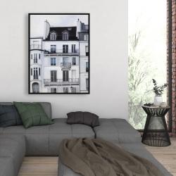 Framed 36 x 48 - Buildings along the seine river