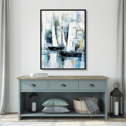 Framed 36 x 48 - Industrial style boats