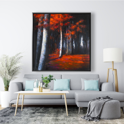 Framed 48 x 48 - Mysterious forest