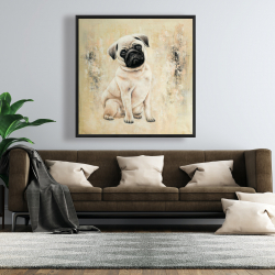 Framed 48 x 48 - Small pug