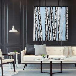 Framed 48 x 48 - Pastel birches