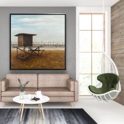 Framed 48 x 48 - Newport beach lifeguard tower