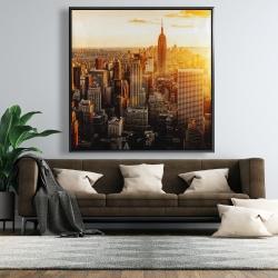 Framed 48 x 48 - New york city at sunset
