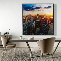 Framed 48 x 48 - City of new york by dawn