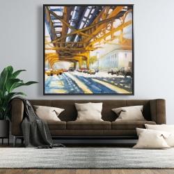 Framed 48 x 48 - Trafic under the bridge