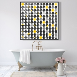 Framed 48 x 48 - Abstract grunge circles