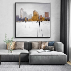 Framed 48 x 48 - City on the horizon