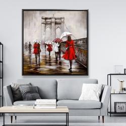 Framed 48 x 48 - Walk on the brooklyn bridge