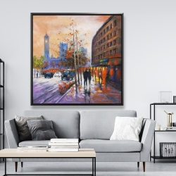 Framed 48 x 48 - City by fall