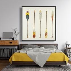 Framed 48 x 48 - Canoe paddles