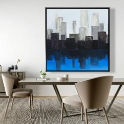 Framed 48 x 48 - Blue city