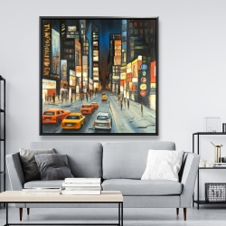 Framed 48 x 48 - View on times square