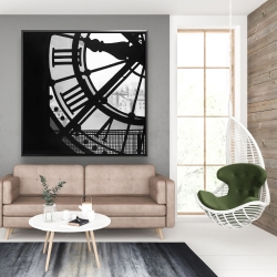 Framed 48 x 48 - Clock at the orsay museum