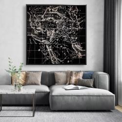 Framed 48 x 48 - Old maritime maps