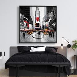 Framed 48 x 48 - New york city busy street
