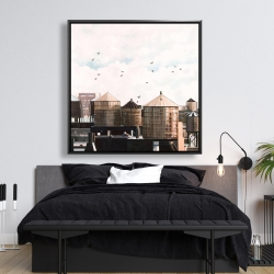 Framed 48 x 48 - Water towers