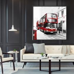 Framed 48 x 48 - Red bus londoner