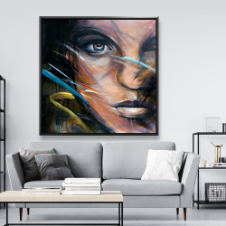 Framed 48 x 48 - Colorful woman face