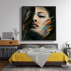 Framed 48 x 48 - Abstract woman portrait