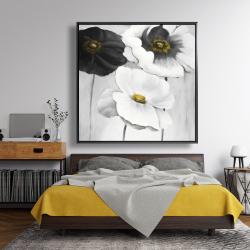 Framed 48 x 48 - Assorted white flowers