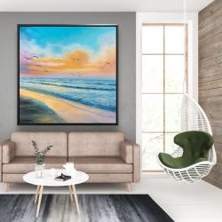 Framed 48 x 48 - Breathtaking tropical sunset