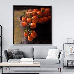 Framed 48 x 48 - Bucket of cherry tomatoes