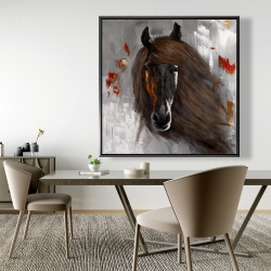 Framed 48 x 48 - Proud brown horse