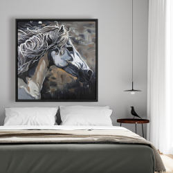 Framed 48 x 48 - Side of a wild horse
