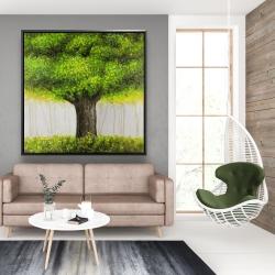 Framed 48 x 48 - Big green tree