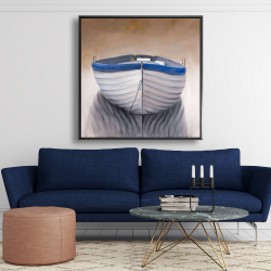 Framed 48 x 48 - Canoe boat