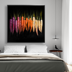 Framed 48 x 48 - Colorful carrots