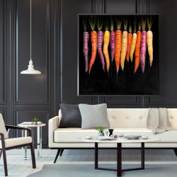 Framed 48 x 48 - Carrots varieties