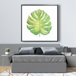 Framed 48 x 48 - Tropical leaf