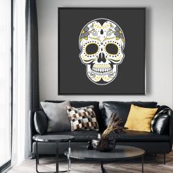 Framed 48 x 48 - Mexican sugar skull art