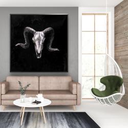 Framed 48 x 48 - Ram skull grunge style