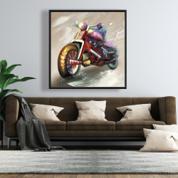 Framed 48 x 48 - Abstract motorcycle