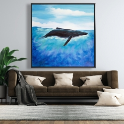 Framed 48 x 48 - Blue whale