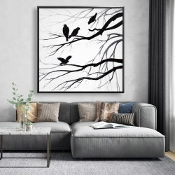 Framed 48 x 48 - Silhouette of birds