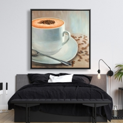 Framed 48 x 48 - Cappuccino time