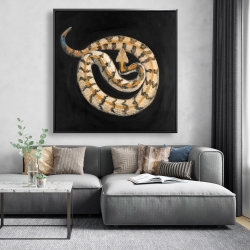 Framed 48 x 48 - Southern timber rattlesnake