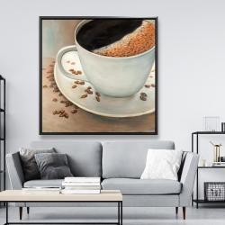 Framed 48 x 48 - Black coffee