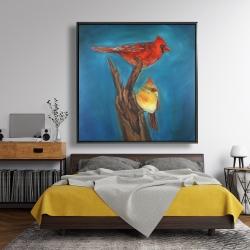 Framed 48 x 48 - Birds on a branch