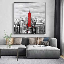 Framed 48 x 48 - Empire state building of new york