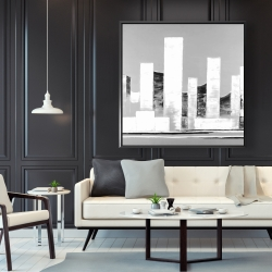 Framed 48 x 48 - Minimalist abstract buildings