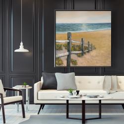 Framed 48 x 48 - Quiet seaside