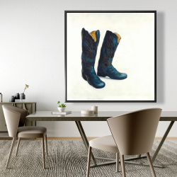Framed 48 x 48 - Leather cowboy boots