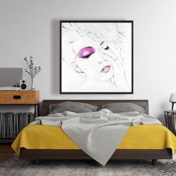 Framed 48 x 48 - Pink makeup
