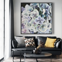 Framed 48 x 48 - Colorful hydrangea flowers