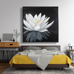 Framed 48 x 48 - Lotus flower with reflection